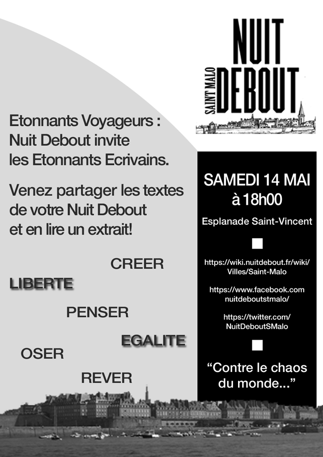 nuit debout saint malo cathy ytak le blog. Black Bedroom Furniture Sets. Home Design Ideas